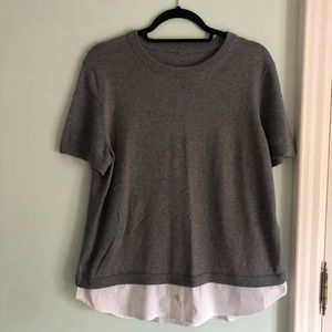 Kate Spade Grey Double Layer Sweater XL